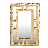 "Gold ""Bamboo"" Mirror"