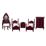 6-Pc. Mahogany Twin Bedroom Set