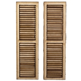 Pair of Working Louvered Shutters