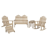 5-Pc. Unfinished Adirondack Furniture Set