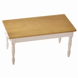 Oak & White Table
