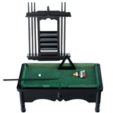 Black Pool Table Set