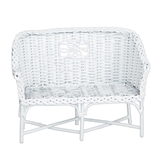 White Wire Settee