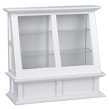 Tall White Display Cabinet