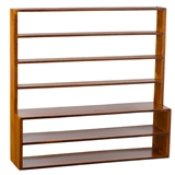 Large Natural Open-Back Shelving Unit