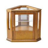 Walnut Corner Display Cabinet