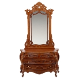 French Baroque Commode with Mirror