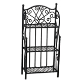 3-Shelf Black Wire Rack