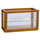 Walnut Rectangular Display Cabinet