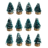 12 Snowy Mini Trees