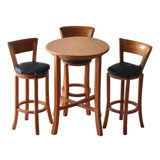 Four Piece Round Pub Table Set