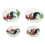 4-Pc. Rooster Plate Set