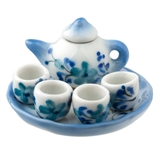 7-Pc. Blue and White Floral Tea Set