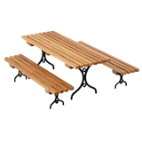 Slatted Picnic Table with Benches