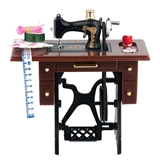 Sewing Machine Table with Supplies