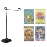 4 Flags and Garden Stand Set