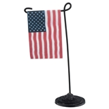 Garden Stand and American Flag