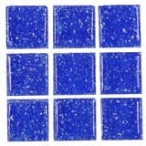 Dark Blue Glass Mosaic Tile Sheet