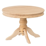 Unfinished Round Pedestal Table