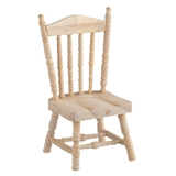 UNFINISHED SPINDLE-BACK CHAIR