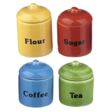 Deco Brights Four Canisters with Lids
