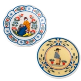 Pair of Provincial Charm Plates
