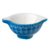Geometric Blue Batter Bowl