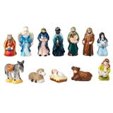 12-Pc. Traditional Nativity Féve Set