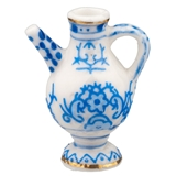 Blue and White Apothecary Pitcher Fève