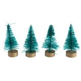 "SET OF FOUR 1-1/2"" GREEN TREES"