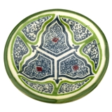 Green and Blue Moroccan Pottery Bowl Fève
