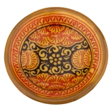 Orange and Black Moroccan Pottery Bowl Féve