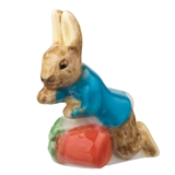 Peter Rabbit Knocking Over Flower Pot Fève