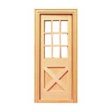 Playscale Crossbuck Exterior Door