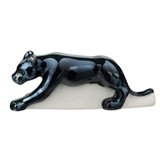 Faux Glass Panther Fève