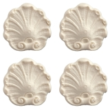 Four Scrolled Shell Appliques