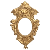 Gilded Victorian Shell Pediment Frame