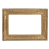 Large Gilded Victorian  Leaf and Diamond Frame