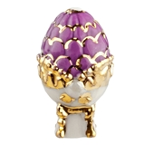 Plum and Gold Russian Egg Fève
