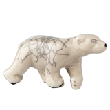 Polar Bear Raku Pottery Fève