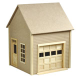 Garage with Working Garage Door by Houseworks