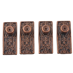 Four Aged Bronze Hughes Door Knobs