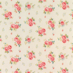 Red Rose Hill Small Floral Wallpaper
