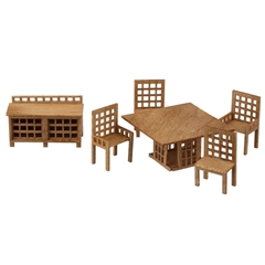 1 48 Scale Modern Dining Room Furniture Kit