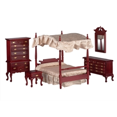 Dollhouse Canopy Bed | Dollhouse Bedroom Sets | Miniatures