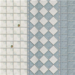 Blue and Off-White Peel-and-Stick Tile and Trim Sheet