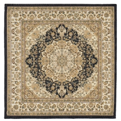 Black and Gold Large Square Aladdin Rug