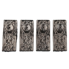 Four Gunmetal Hughes Door Knobs