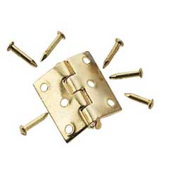 Gold Plated Brass Butt Hinge by Houseworks