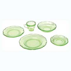 Five Piece Green Place Setting